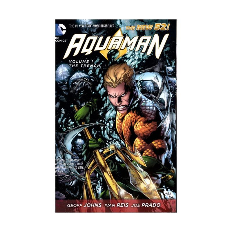 DC Comics Aquaman Vol 01 The Trench HC Buku Komik