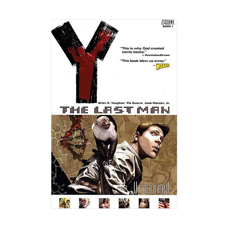 DC Comics Y The Last Man TP Vol 01 Unmanned Buku Komik