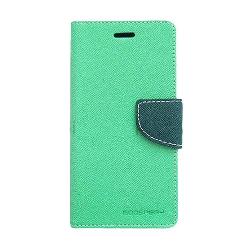 Mercury Goospery Fancy Diary Mint Navy Flip Cover Casing for Xiaomi Note