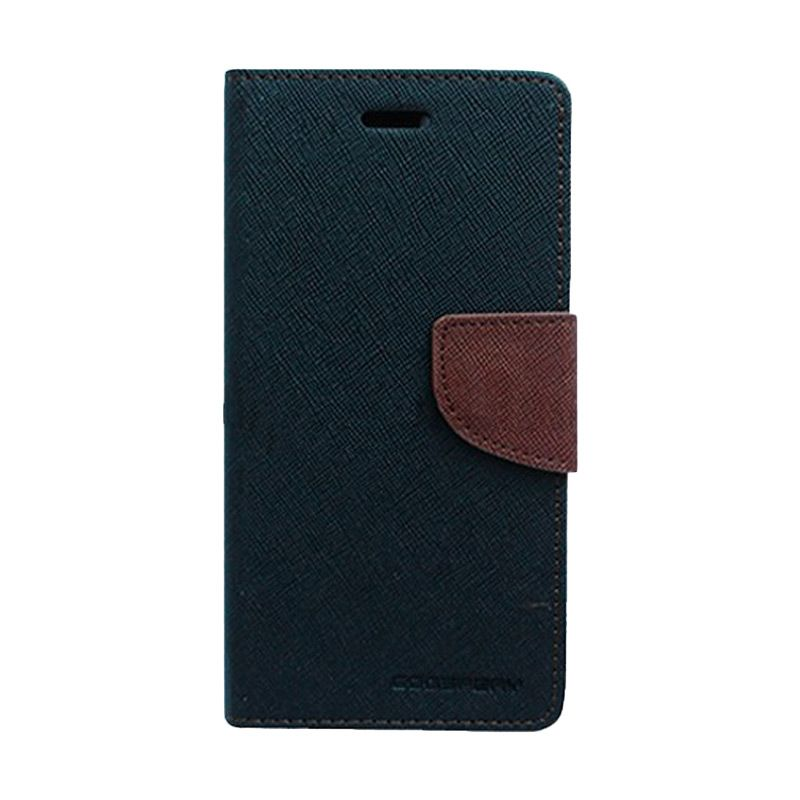 Mercury Goospery Fancy Diary Black Brown Flip Cover Casing for Sony Xperia T3