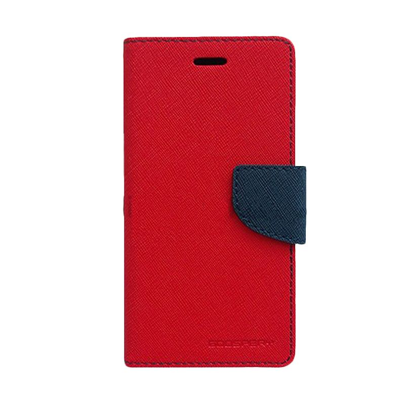 Mercury Goospery Fancy Diary Red Navy Flip Cover Casing for Sony Xperia T3