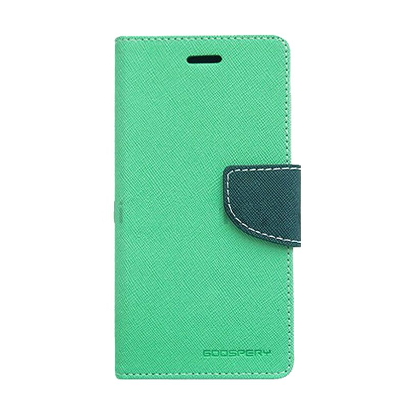 Mercury Goospery Fancy Diary Mint Navy Casing for Asus Zenfone 2