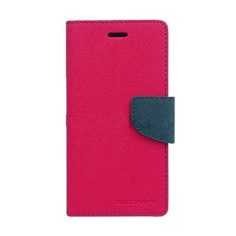 Mercury Goospery Fancy Diary Hot Pink Navy Casing for Galaxy J1
