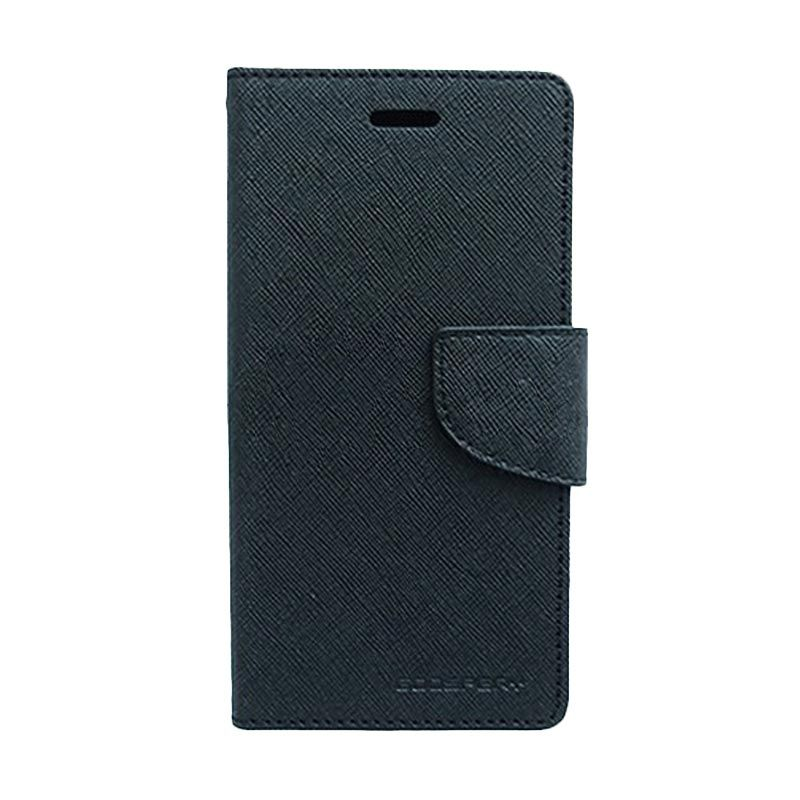 Mercury Goospery Fancy Diary Black Casing for Galaxy Young 2