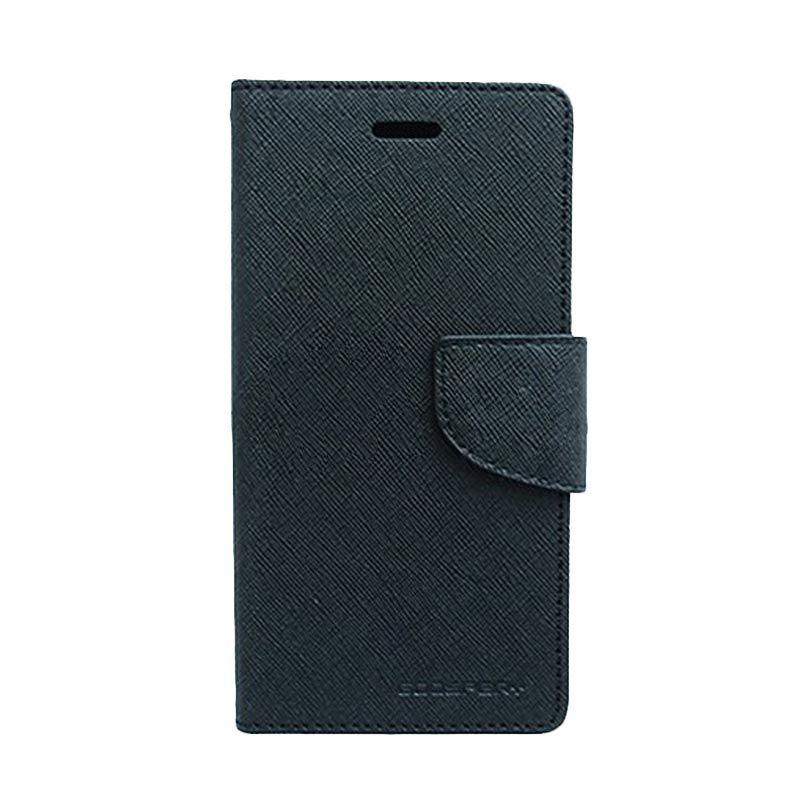 Mercury Goospery Fancy Diary Black Black Casing for LG Nexus 5
