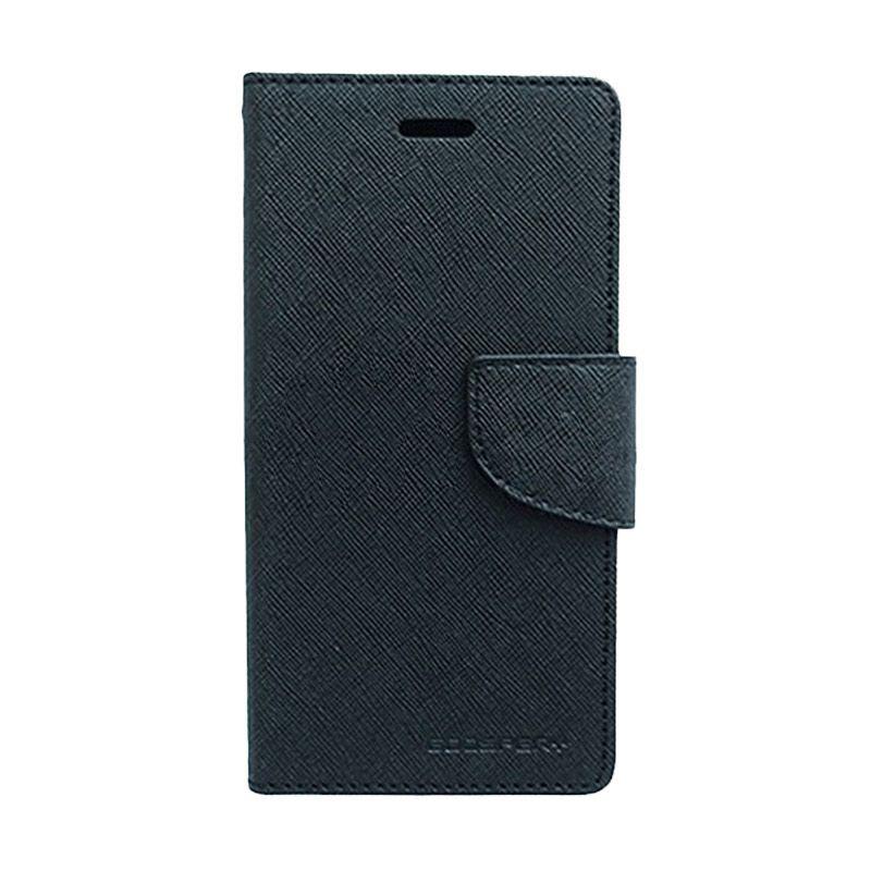 Mercury Goospery Fancy Diary Black Casing for Nokia X