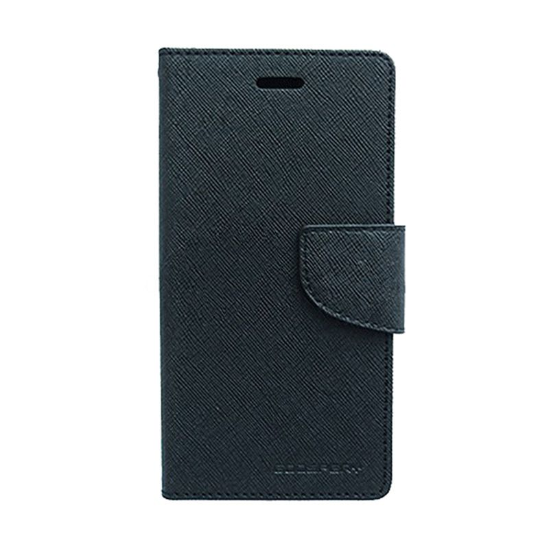 Mercury Goospery Fancy Diary Black Black Casing for Samsung Galaxy S6