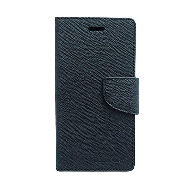 Mercury Goospery Fancy Diary Black Black Casing for Sony Xperia C3