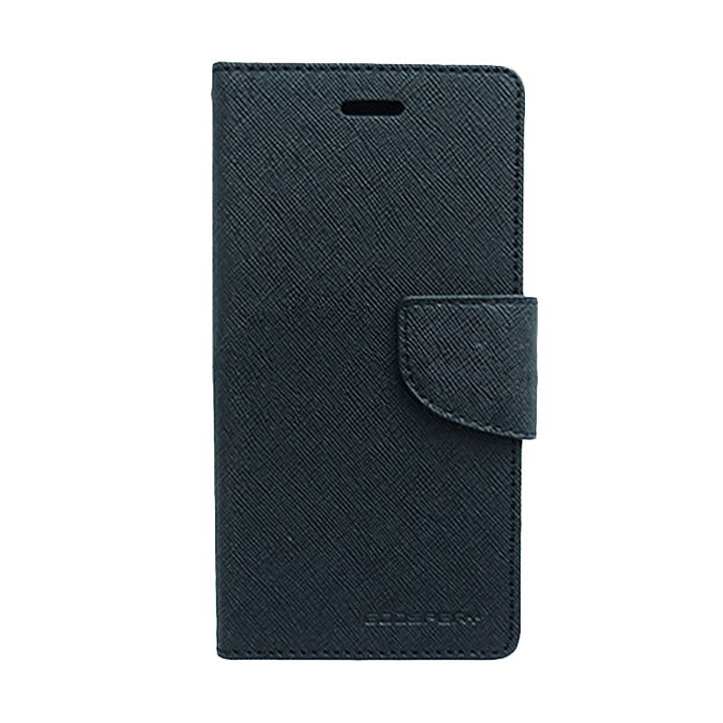 Mercury Goospery Fancy Diary Black Flip Cover Casing for Galaxy Core