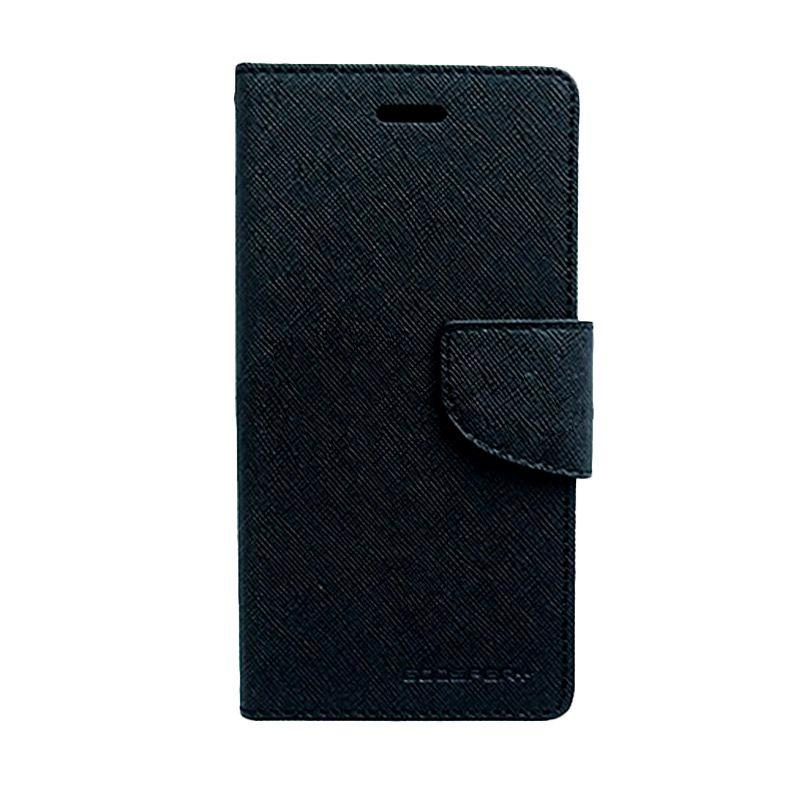 Mercury Goospery Fancy Diary Black Black Flip Cover Casing for LG G Optimus Pro