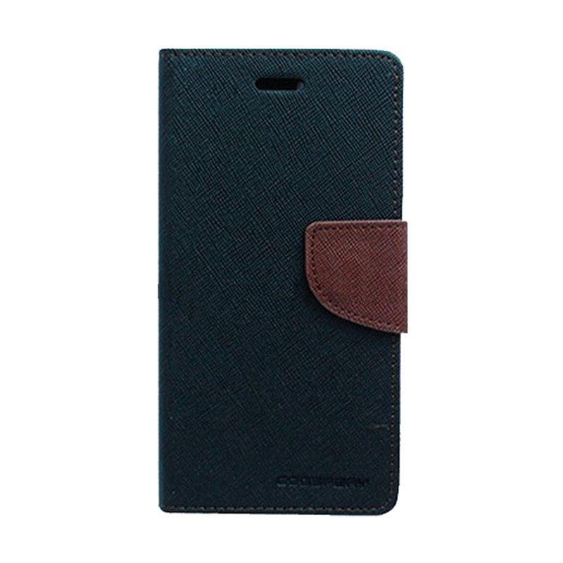 Mercury Goospery Fancy Diary Black Brown Casing for Asus Zenfone 5