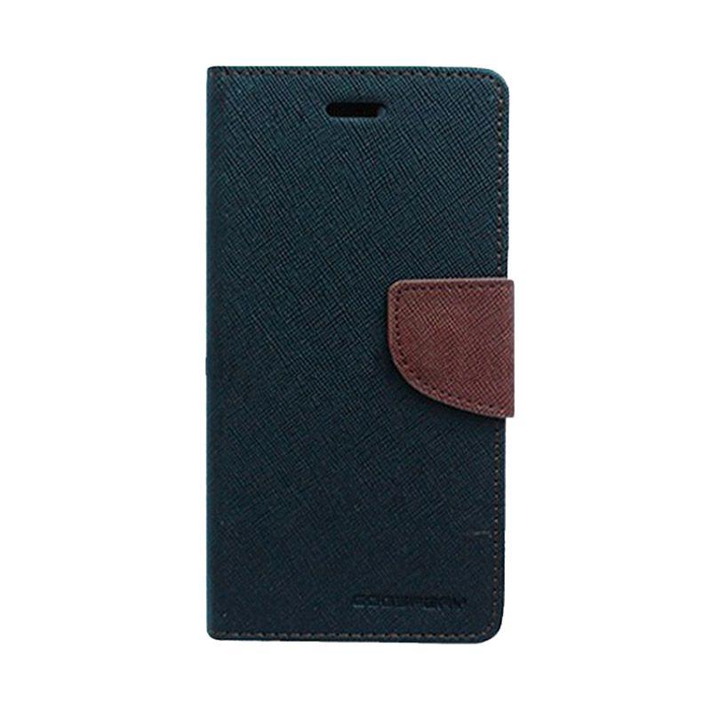 Mercury Goospery Fancy Diary Black Brown Casing for iPhone 6 Plus