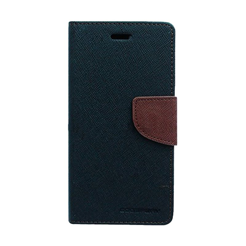 Mercury Goospery Fancy Diary Black Brown Casing for Motorola Moto G