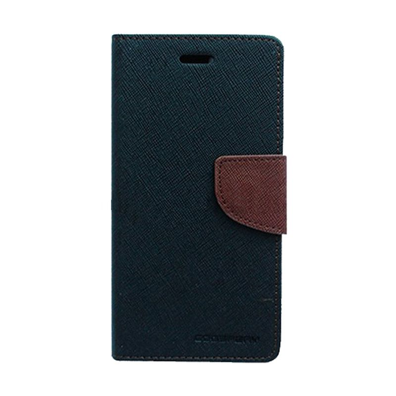 Mercury Goospery Fancy Diary Black Brown Casing for OPPO Find 7