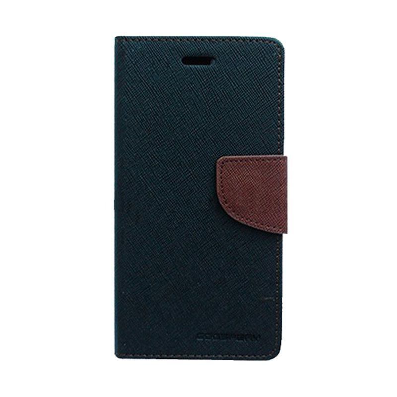 Mercury Goospery Fancy Diary Black Brown Casing for Samsung Galaxy Grand Prime