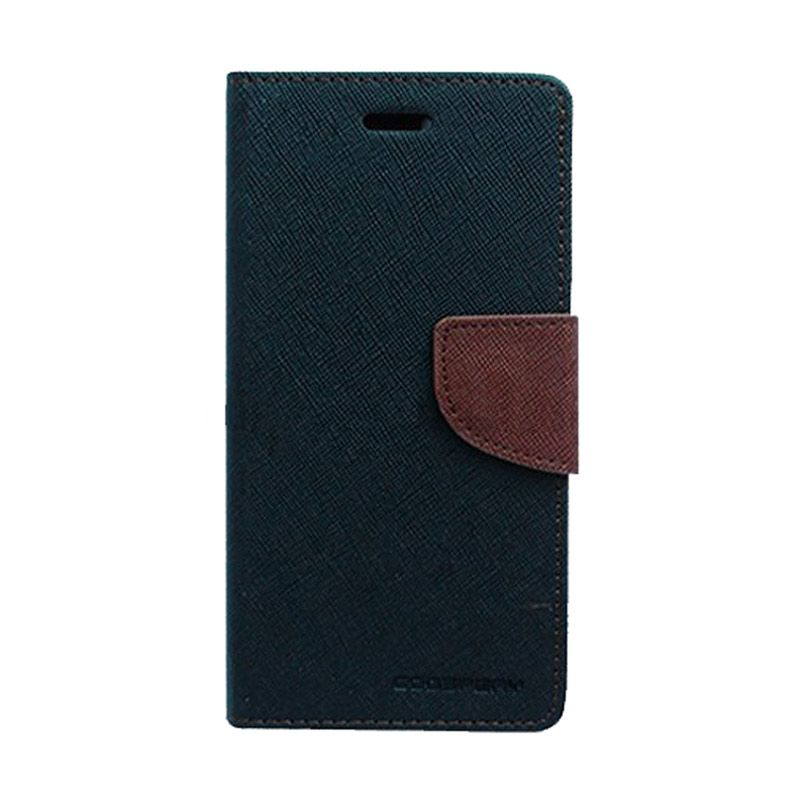 Mercury Goospery Fancy Diary Black Brown Casing for Sony Xperia E3