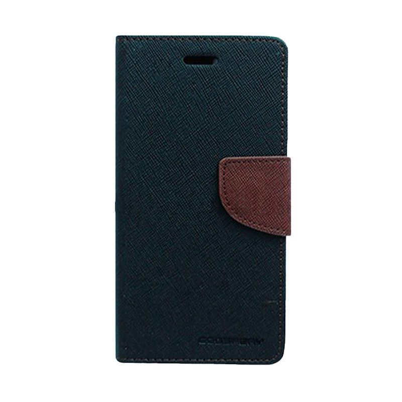 Mercury Goospery Fancy Diary Black Brown Casing for Xperia M2
