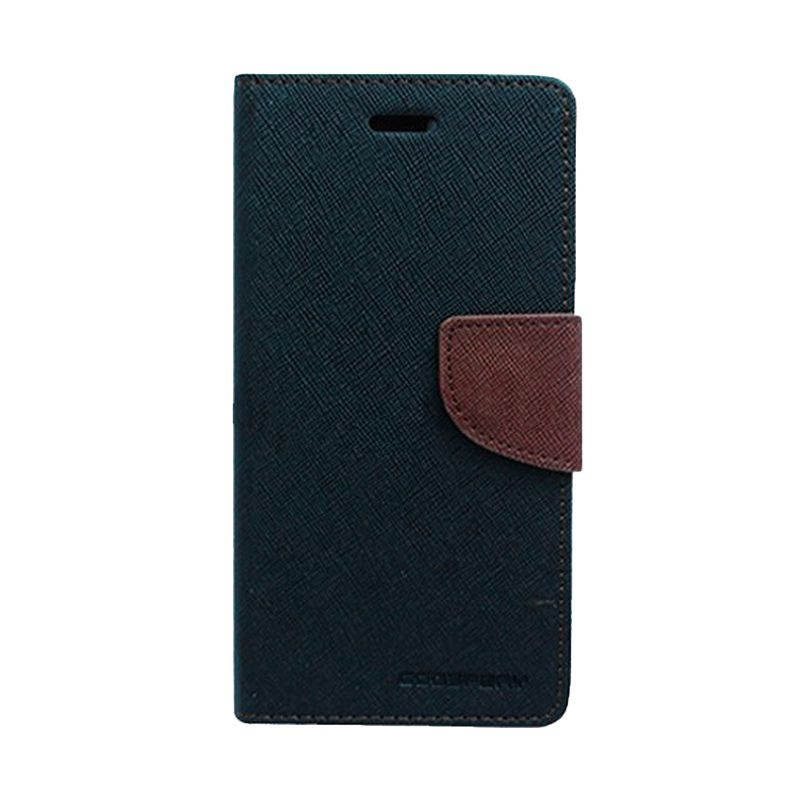 Mercury Goospery Fancy Diary Black Brown Casing for Sony Xperia Z2