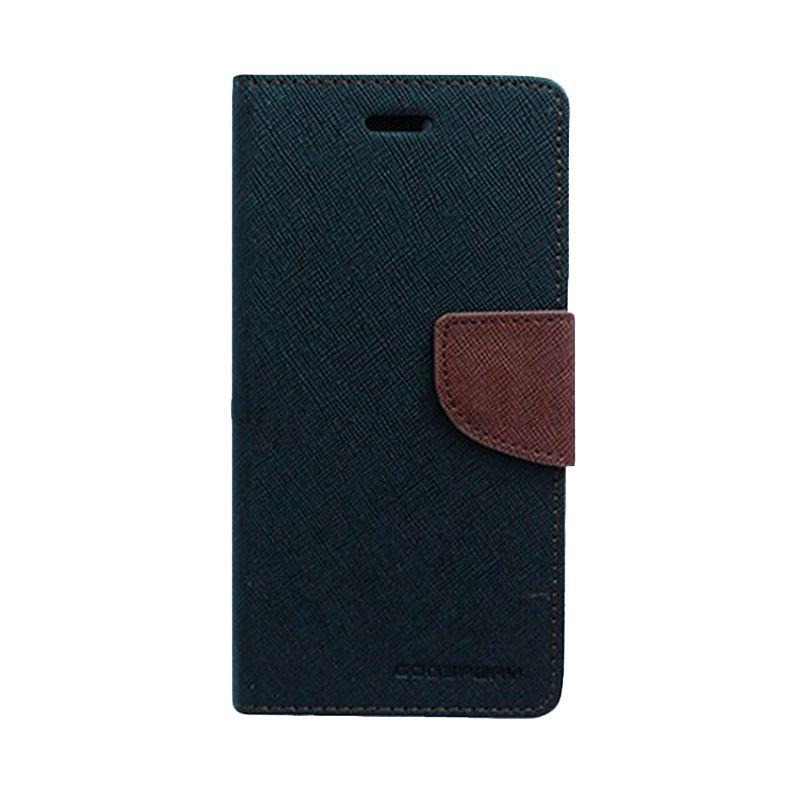 Mercury Goospery Fancy Diary Black Brown Casing for Sony Xperia Z3