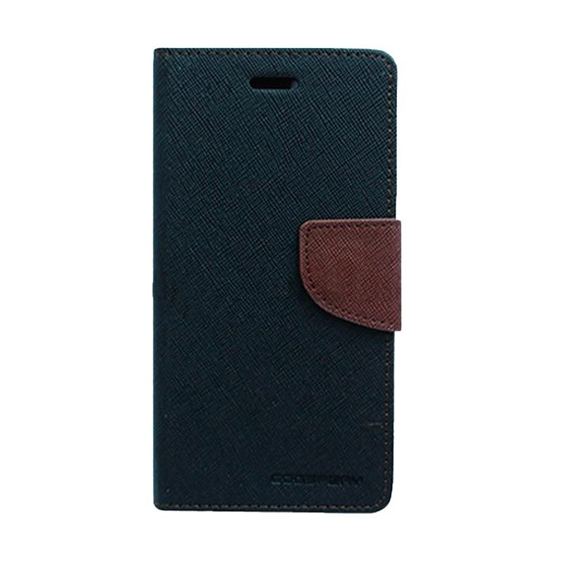 Mercury Goospery Fancy Diary Black Brown Casing for Xiaomi RedMi 2