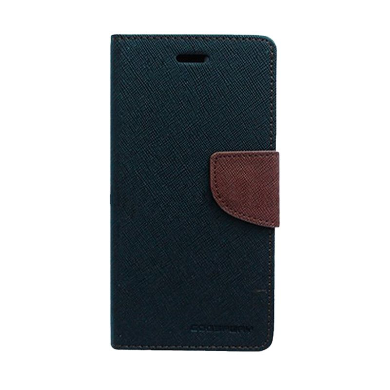 Mercury Goospery Fancy Diary Black Brown Flip Cover Casing for Asus Zenfone 6
