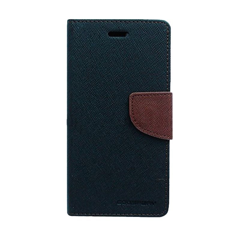 Mercury Goospery Fancy Diary Black Brown Casing for iPhone 5C