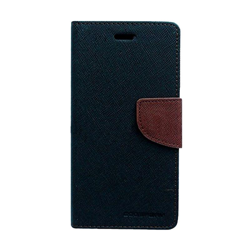 Mercury Goospery Fancy Diary Black Brown Flip Cover Casing for LG G3