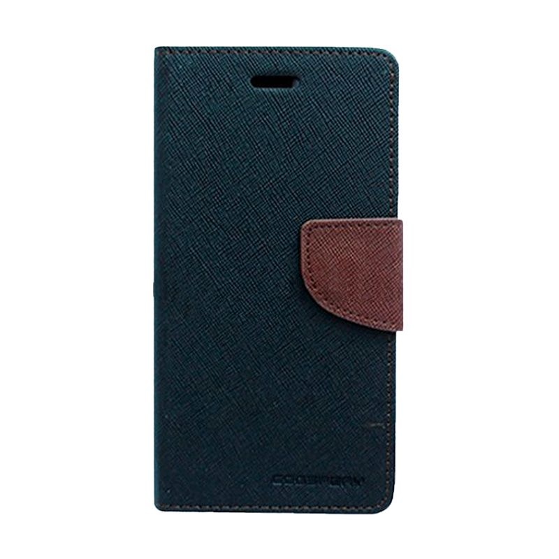 Mercury Goospery Fancy Diary Black Brown Flip Cover Casing for Xiaomi M4