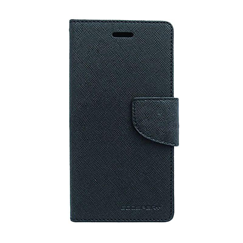 Mercury Goospery Fancy Diary Black Black Casing for Samsung Galaxy Mega 5.8