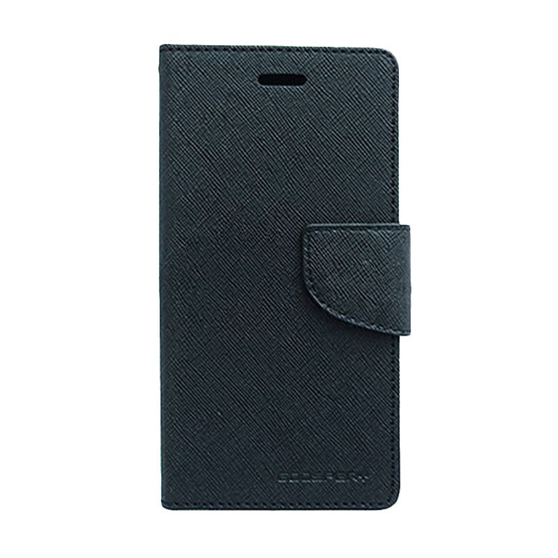 Mercury Goospery Fancy Diary Black Black Flip Cover Casing for Galaxy Note Edge