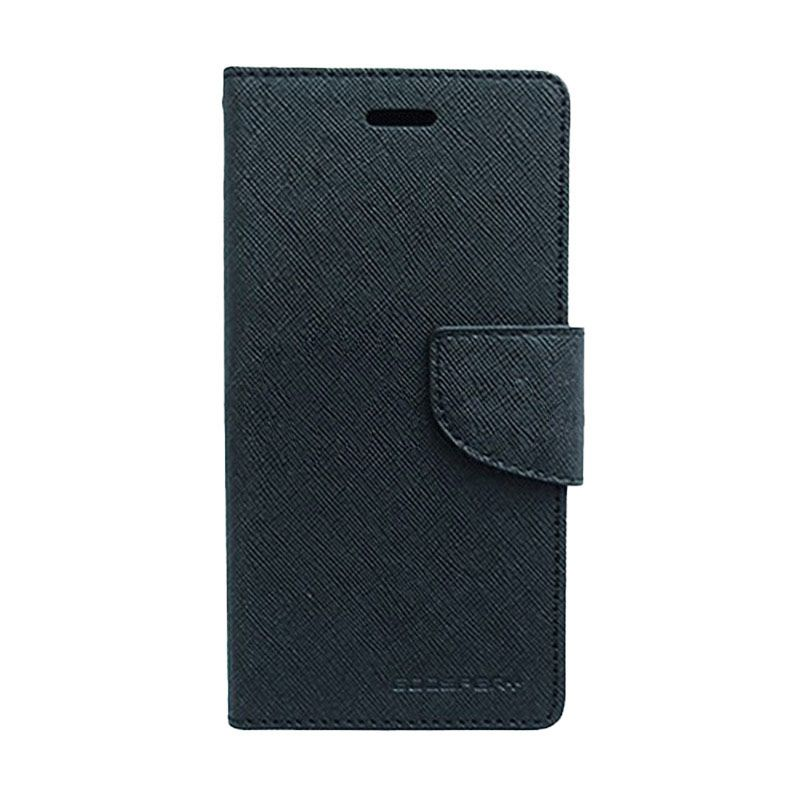 Mercury Goospery Fancy Diary Black Casing for HTC One Mini