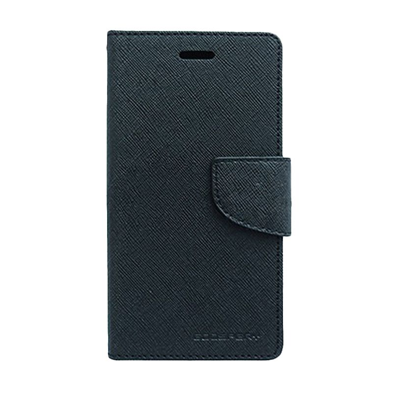 Mercury Goospery Fancy Diary Black Casing for Motorola Moto G