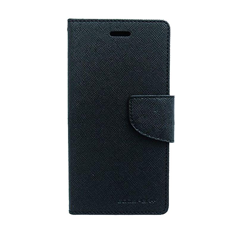 Mercury Goospery Fancy Diary Black Casing for Nokia X2