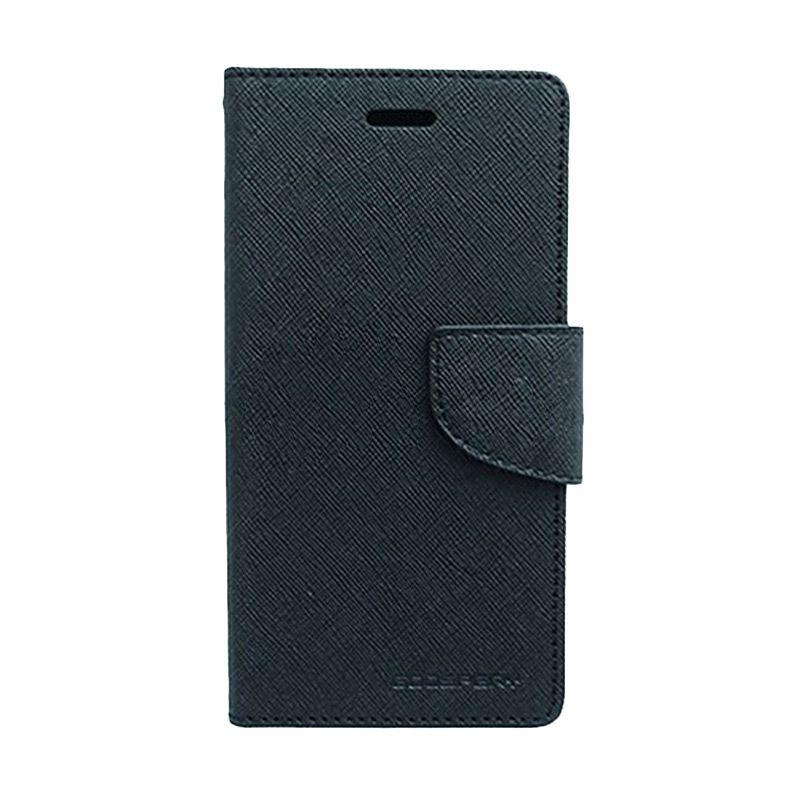 Mercury Goospery Fancy Diary Black Casing for OPPO N1 Mini