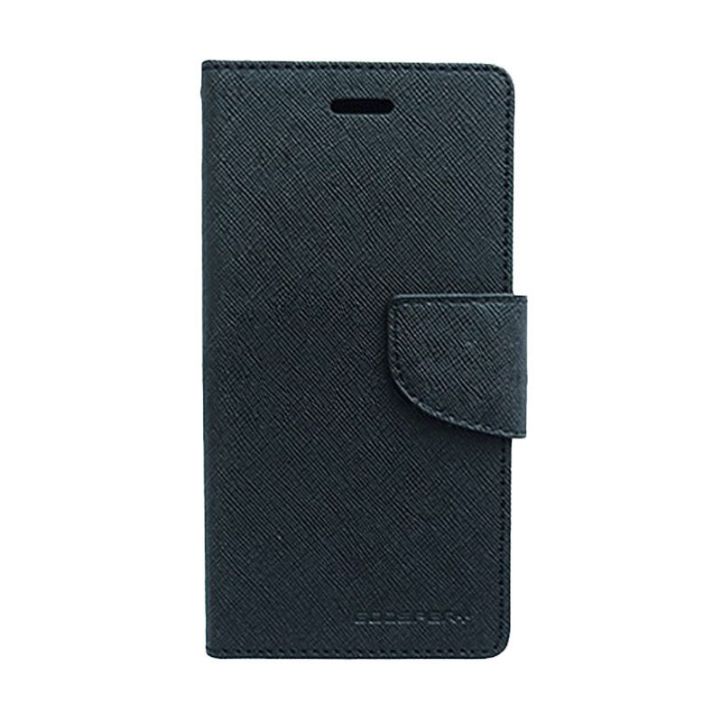 Mercury Goospery Fancy Diary Black Casing for OPPO Yoyo
