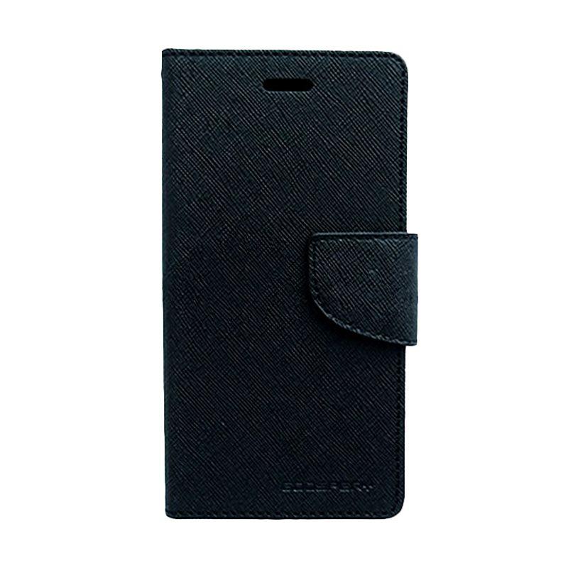 Mercury Goospery Fancy Diary Black Flip Cover Casing for Xiaomi M4