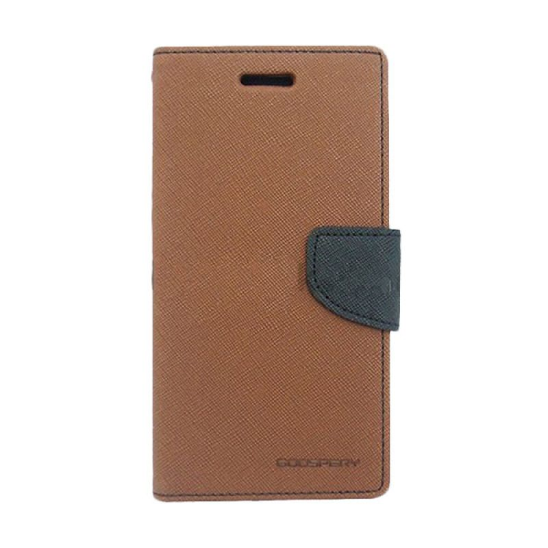 Mercury Goospery Fancy Diary Brown Black Casing for LG G2 Mini