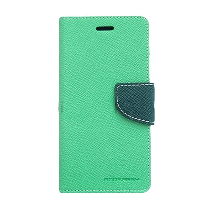 Mercury Goospery Fancy Diary for Mint Navy Casing for Asus Zenfone 6