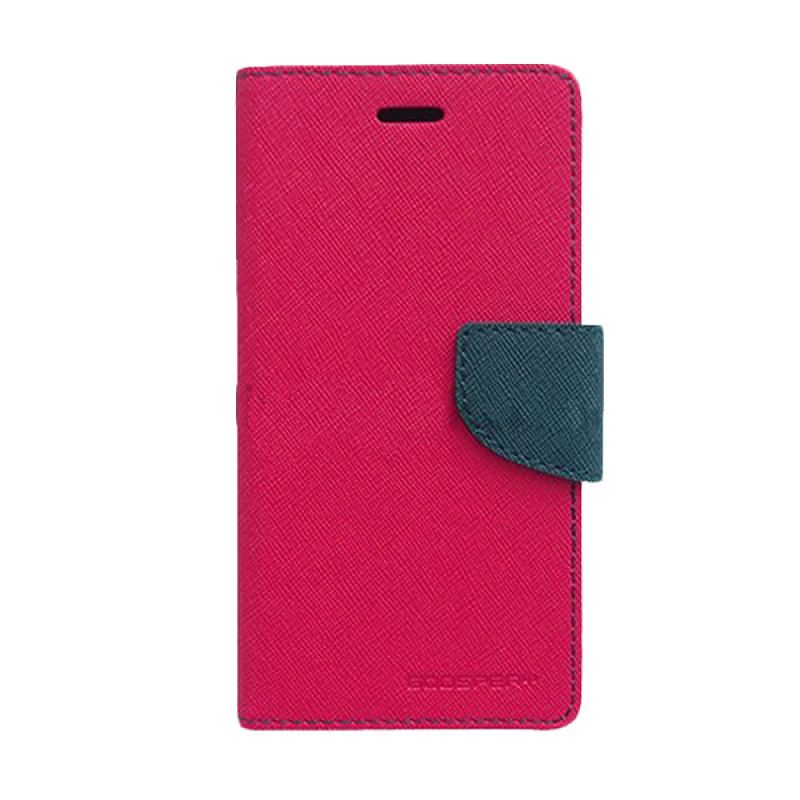 Mercury Goospery Fancy Diary Hot Pink Navy Casing for Asus Zenfone 4S