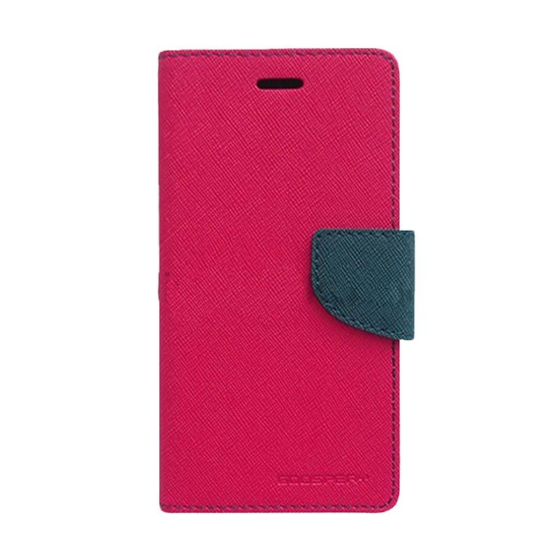 Mercury Goospery Fancy Diary Hot Pink Navy Casing for OPPO Find 5 Mini