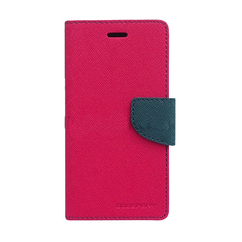 Mercury Goospery Fancy Diary Hot Pink Navy Casing for OPPO Neo K
