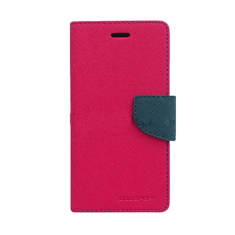 Mercury Goospery Fancy Hot Pink Navy Diary Casing for Sony Xperia Z2