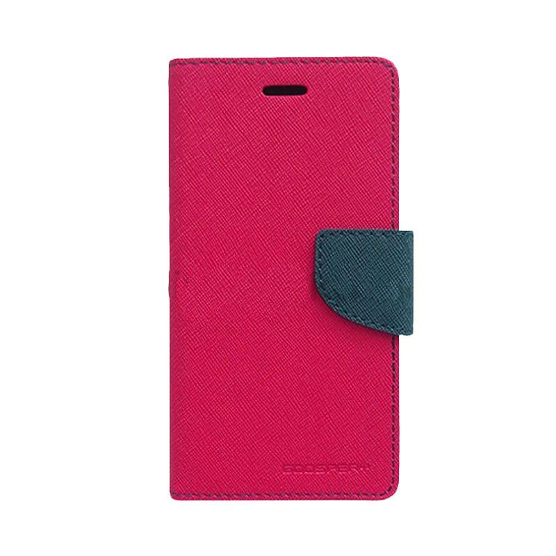 Mercury Goospery Fancy Diary Hot Pink Navy Casing for Sony Xperia Z3