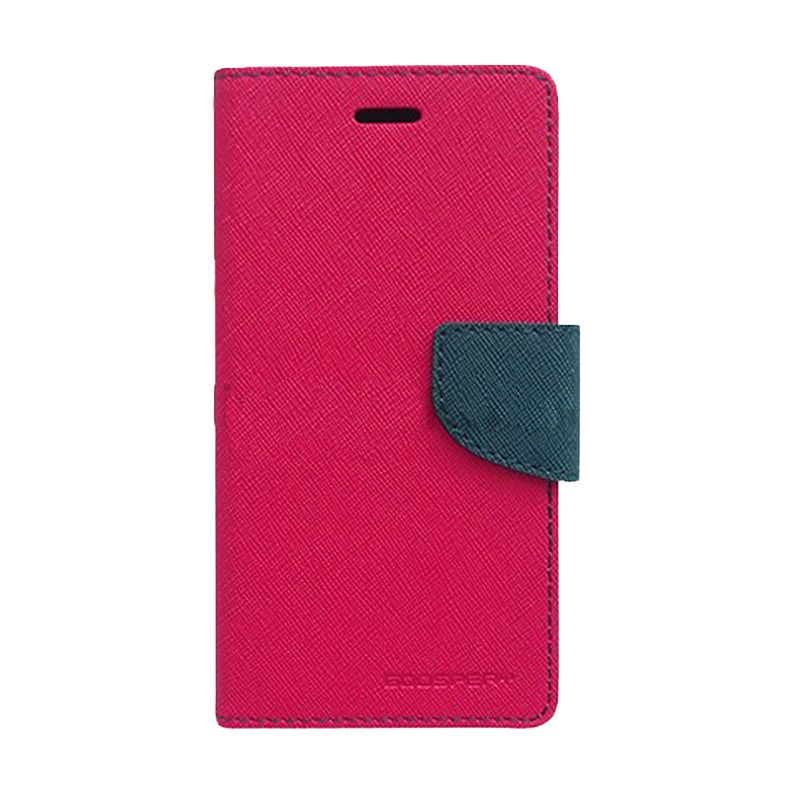 Mercury Goospery Fancy Diary Hot Pink Navy Casing for Xperia Z