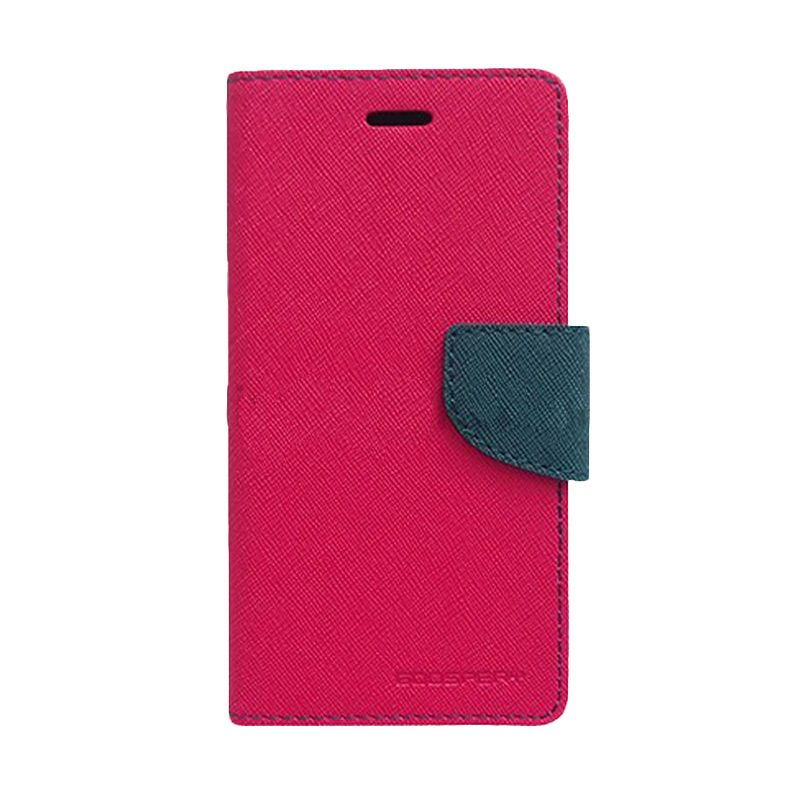 Mercury Goospery Fancy Diary Hot Pink Navy Flip Cover Casing for LG G Optimus Pro
