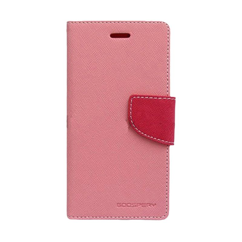 Mercury Goospery Fancy Diary Pink Hot Pink Casing for Sony Xperia V