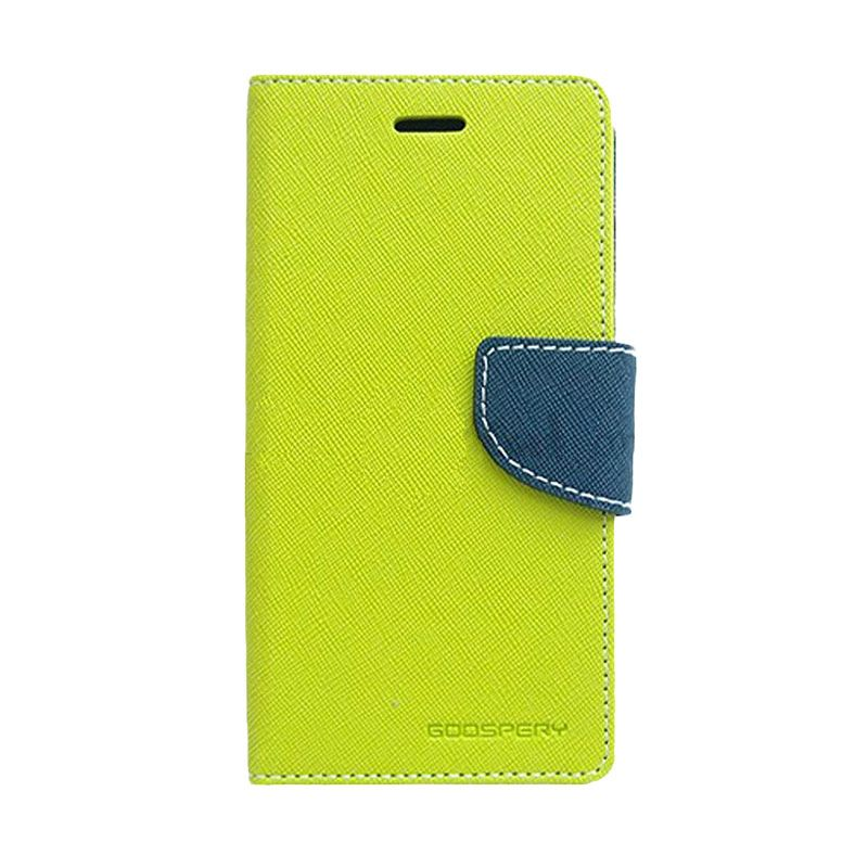Mercury Goospery Fancy Diary Lime Navy Casing for Galaxy Alpha