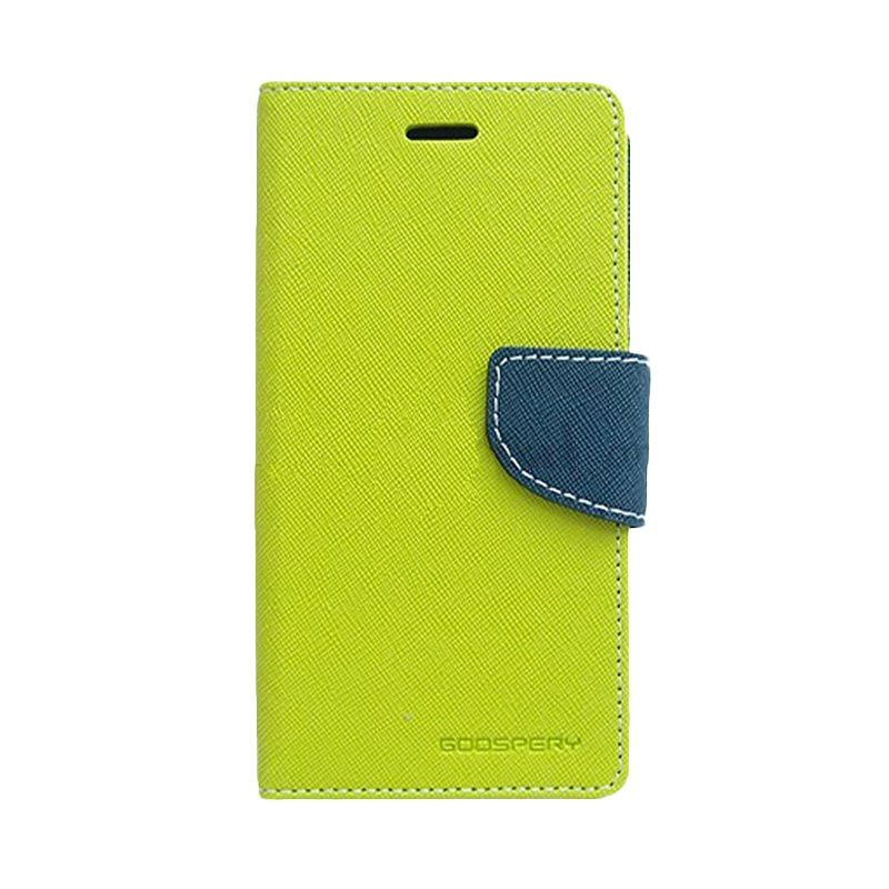 Mercury Goospery Fancy Diary Lime Navy Casing for LG G2