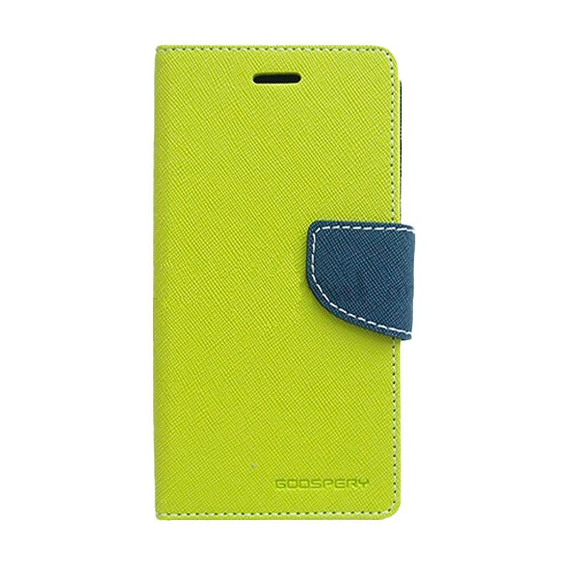 Mercury Goospery Fancy Diary Lime Navy Casing for OPPO Mirror 3