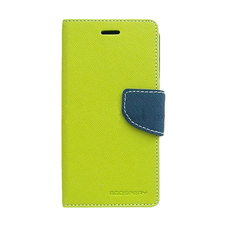 Mercury Goospery Fancy Diary Lime Navy Casing for Sony Xperia Z2